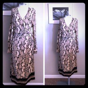 🆕 listing! Snake print faux wrap dress